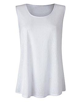White Jersey Jacquard Vest