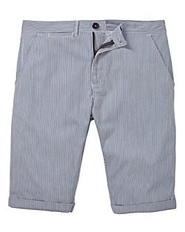 Flintoff by Jacamo Ticking Stripe Short