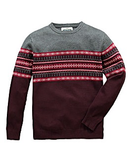 Jacamo Ashton Crew Neck Jumper Reg