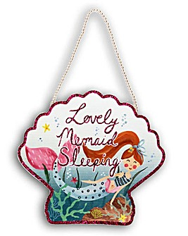 Mermaid World Sleeping Plaque