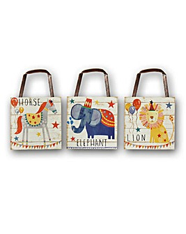 Circus Fun Animal Wooden Plaques