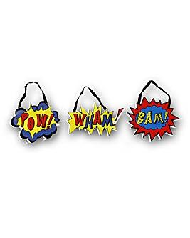 Superhero Pow Wham Bam Set of 3