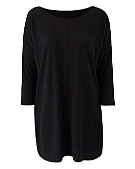 Black Oversized Cold Shoulder Tunic