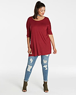 Wine Oversized Boxy Top