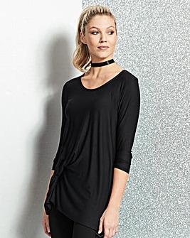 Black Long Sleeve Tuck Tunic