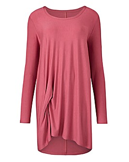 Plum Long Sleeve Tuck Tunic