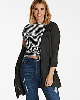 Charcoal Boyfriend Long Sleeve Cardigan