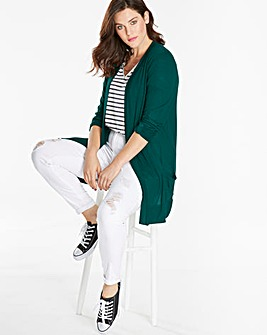 Green Boyfriend Long Sleeve Cardigan