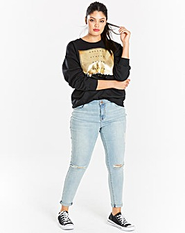 Black/ Gold Foiled Manhattan Sweatshirt