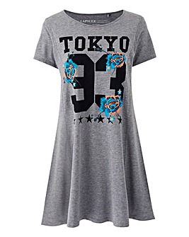 Tokyo Puff Print Oriental Floral Tunic