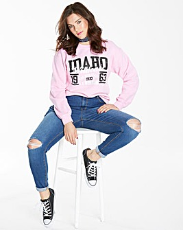 Pink Idaho Wildcats Sweatshirt