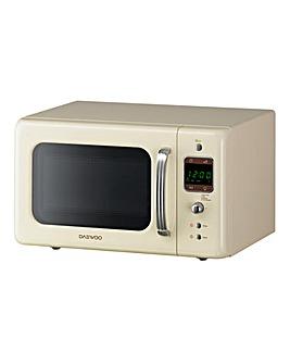 Daewoo 800W 20Litre Cream Microwave