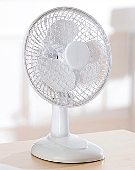 6 Inch White Desk Fan