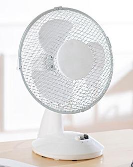 9 Inch White Desk Fan