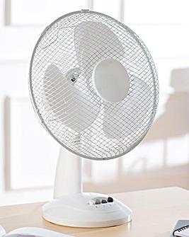 12 Inch White Desk Fan