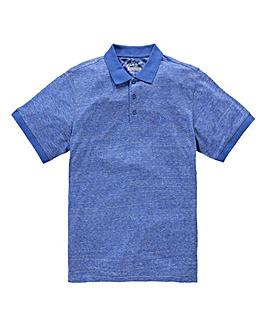 Jacamo Griffin Blue Marl Jersey Polo Reg