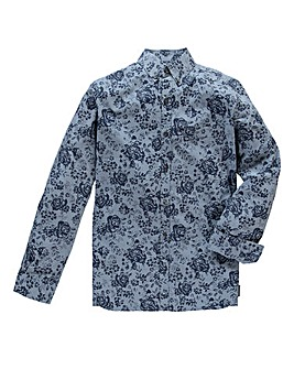 French Connection Floral Blue Shirt