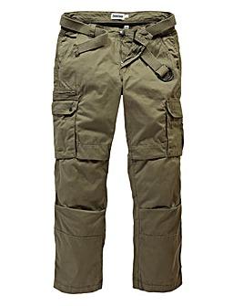 Jacamo Khaki Carson Cargo Pant 29in