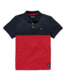 Jack & Jones Navy/Red Blake Polo