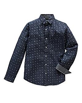 UNION BLUES Bruno Print Denim Shirt Long