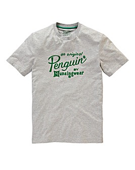Original Penguin Flocked Logo T-Shirt