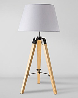 Tripod Wooden Easel Table Lamp