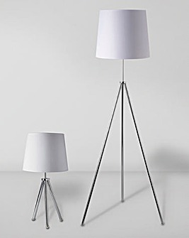 Tripod Table & Floor Lamp Set of 2