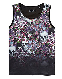 Label J Floral Dip Vest Long