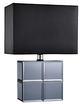 Smoked Mirror Table Lamp