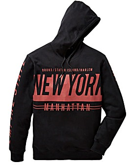 Label J Print SLV Hooded Sweat Reg