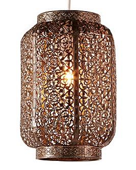 Moroccan Bronze Metal Pendant