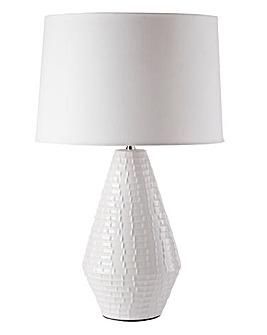 Waffle Ceramic Table Lamp