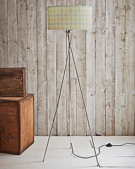 Country Check Tripod Floor Lamp