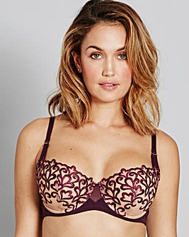 Grape Ornemental Full Cup Bra