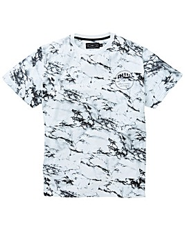 Label J Marble Print Tee Long