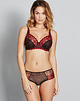 Vienna Luxe Full Cup Red/Black Bra