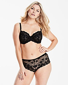 Daisy Lace Full Cup Black Bra