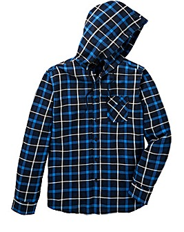 Label J LS Hooded Check Shirt Reg