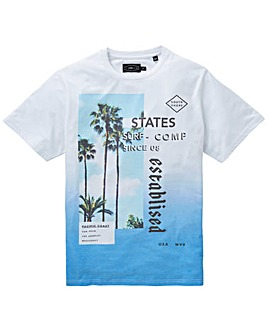 Label J Fade Out Palm Print Tee Long
