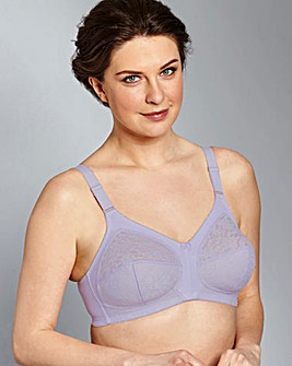 Dotty Non Wired Lilac Bra