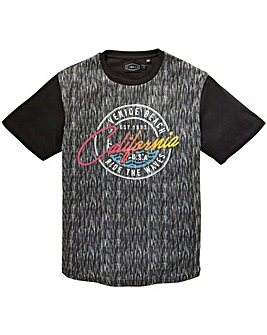 Label J Space Dye Print Tee Long
