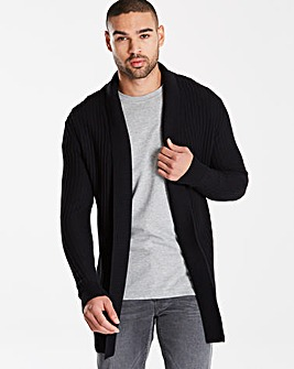 Label J Rib Shawl Cardigan Regular