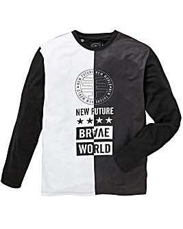 Label J LS Brave World Splice T-Shirt R