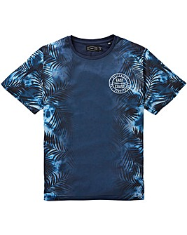 Label J Tropical Fade Panel T-Shirt Reg