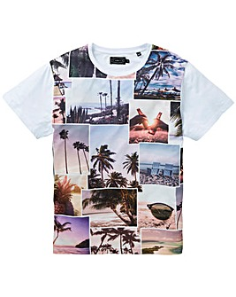 Label J Photo Beach T-Shirt Long