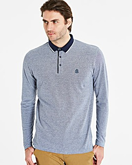 Black Label Blue L/S Oxford Polo R