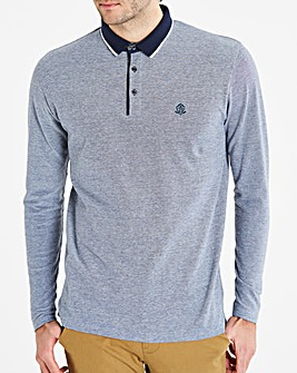 Black Label Blue L/S Oxford Polo L