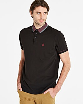 Black Label Black S/S Trim Collar Polo R