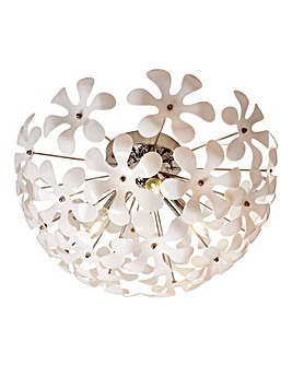 Paloma White Flowers fitted Light