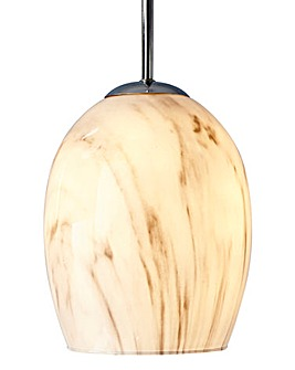 Marble effect Fitted Pendant